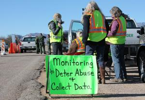 Arivaca residents monitoring Border Patrol checkpoint on AZ 286