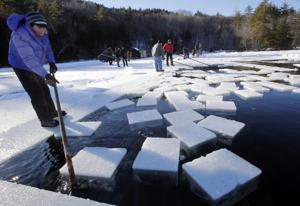 Photos: Just like 'Frozen,' they harvest ice