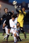High school boys soccer Falcons unseat Lancers
