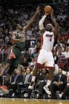 NBA Heat's Big Three scores 80 in OT victory