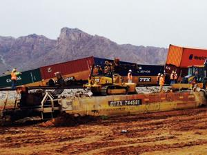 Dozens of train cars derail near Picacho Peak