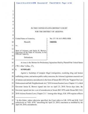 No review of SB 1070 ruling before Nov.