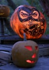 Extreme pumpkin carving creations