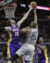 NBA playoffs Spurs 102, Lakers 91 San Antonio 2-0 in 'new season'