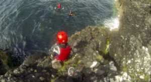 Scotland cliff jumping all in a day's fun