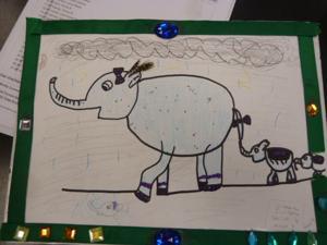 Baby elephant inspires local art students