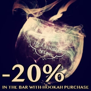 Purchase a Hookah and Save 20% in the Bar