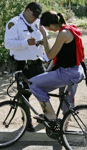 Bicyclists vexed by citations for running stop sign