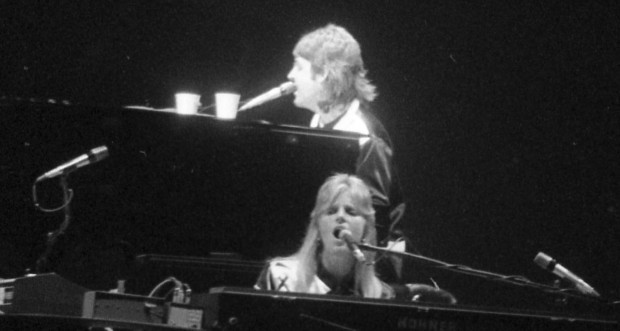 June 18, 1976: Paul and Linda McCartney perform with Wings in Tucson