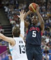 Men's basketball: USA 109, Argentina 83: Big second half puts US in final