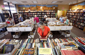 Reading blooms at Spring Book Sale