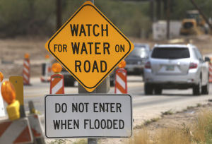 "Tucson in 100 Objects — ""Do not enter when flooded"""