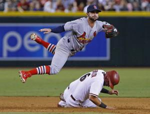 Double plays do in D-backs in loss to Cardinals