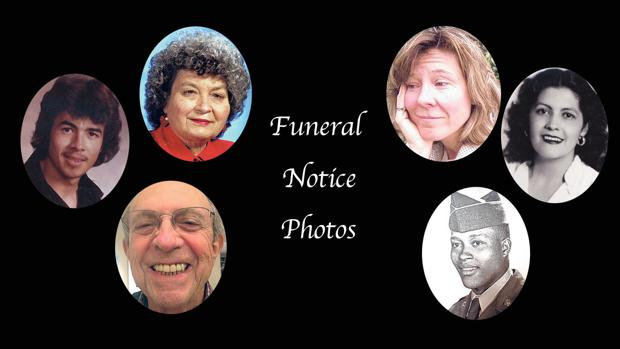 In memoriam: Funeral notice photos, May 1-22, 2017
