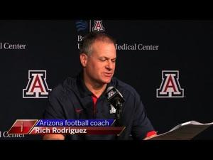 Watch: RichRod, Wildcats prepare for UTSA