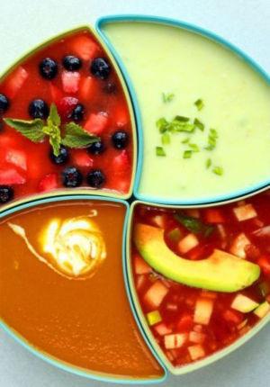 Dive into a big bowl of cold soup