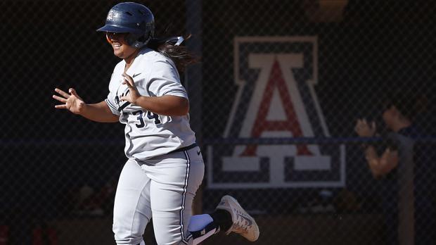 Katiyana Mauga is the best home run hitter in Arizona Wildcats history