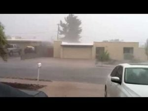 Tucson monsoon captured on Sunday, July 13