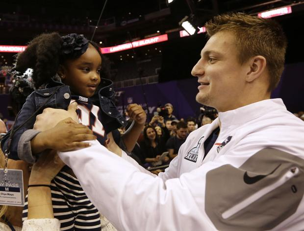 Photos: Ex-Cat Gronkowski at Super Bowl media day