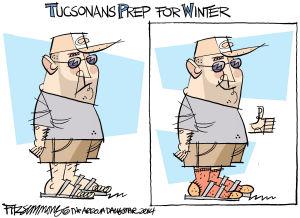 Daily Fitz Cartoon: Winter wardrobe upgrade