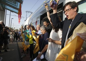 Fanfare and hoopla usher streetcar into daily service