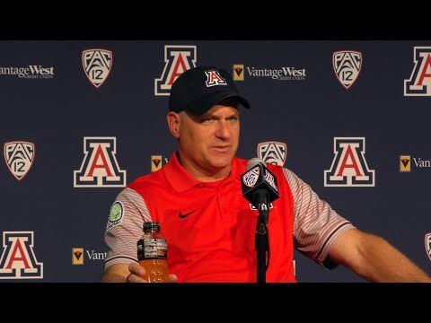 Watch: RichRod, Arizona Wildcats on overtime loss to No. 9 Washington