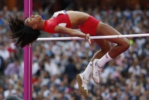 UA star Barrett earns silver in Olympic high jump
