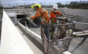 Sixth Avenue underpass closed for paint job