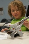 Build model planes, then see real thing