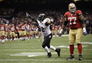Super Bowl XLVII: Goal-line stand lets Lewis leave as champ