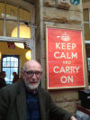 'Keep calm and carry on' — words to live and sue by