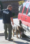 Police dogs handlers bond during convention