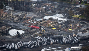 Photos: Devastation left by blasts in Canadian oil tanker derailment