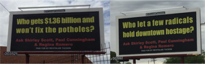 Republican activists launch billboard-sized attack on City Council