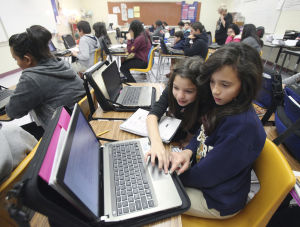 Tech firm helps district with computer lessons