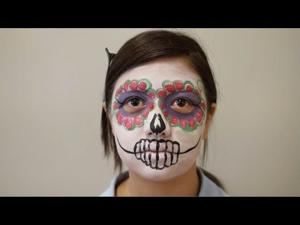 Tutorial: Easy girl sugar skull face paint