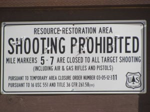 Closure of Redington Pass shooting sites is extended