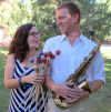 Percussionist Elizabeth Soflin and saxophonist Michael Weiss