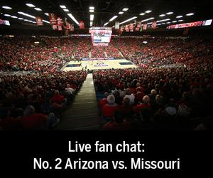 Live fan chat: No. 2 Arizona vs. Missouri basketball game