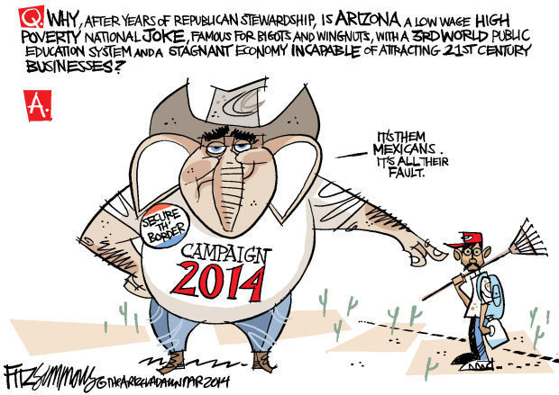 Daily Fitz Cartoon: Arizona 2014