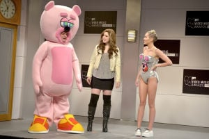 Photos: Miley Cyrus makes fun of her antics on SNL