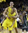 Top 25 No. 4 Wolverines slip past Michigan State