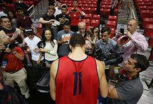 Photos: Wildcats get settled in San Diego
