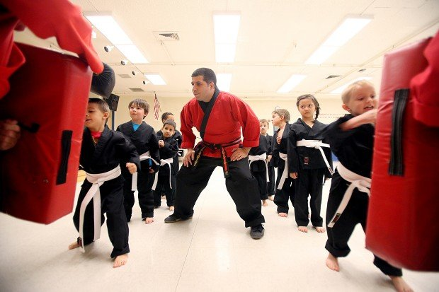 Karate class is a kick - and a block, fall, pose | Foothills ...