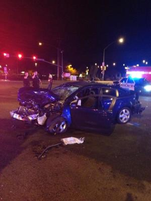 TPD officer involved with road rage accident at Thornydale and Cortaro