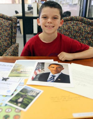 Flat Stanley: Copper Creek Elementary School's third-grader Charlie Allard decided, for a class project, to send his Flat Stanley to the White House. Last month, his Flat Stanley came back with photos and a letter.  - Randy Metcalf/The Explorer