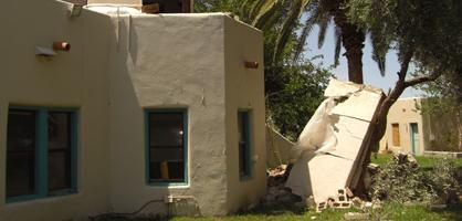 Wall of 1930s house at Steam Pump Ranch crumbled last week