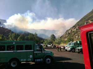 Wildfire Season: Local crews have been sent out to help fight wildfires around the state - Courtesy photo