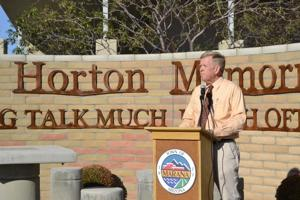 Mayor Ed Honea speaks at the Jack Horton Memorial