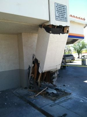 Car Crashes Into AMPM: Photo courtesy of Northwest Fire District